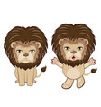 lion sitting pose vector image
