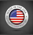 made in america flag metal icon vector image vector image