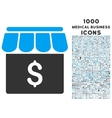 Market Icon with 1000 Medical Business Icons vector image