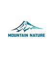 mountain tourism landscape logo vector image vector image