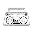old radio stereo vector image vector image