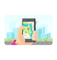 online gps maps phone application concept in flat vector image