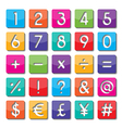 paper number and symbol vector image vector image