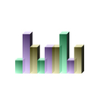 picture of graph vector image vector image