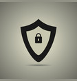 protection icon in flat style vector image vector image