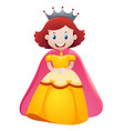 queen in yellow dress vector image