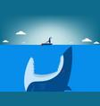 risk shark attacking businessman vector image