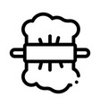rolling dough icon outline vector image vector image