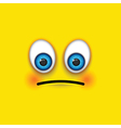 sad square emoji vector image vector image