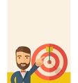 Salesman hit the sales target vector image vector image
