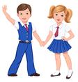 school boy girl vector image vector image