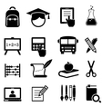 School Learning and Education Icons vector image vector image