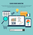 search engine marketing vector image