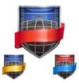 Set of Bright shield in the ice hockey helmet vector image vector image