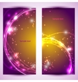Set of two banners abstract headers with golden vector image