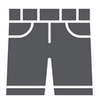 shorts glyph icon clothes and summer pants sign vector image vector image
