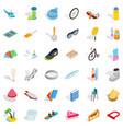 snowboarding icons set isometric style vector image vector image