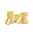 stacks of dollar coins vector image