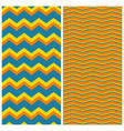tile zig zag pattern set for seamless decoration vector image