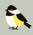 tit bird flat style profile view vector image vector image