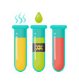 toxic waste flat icon vector image