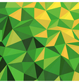 Triangular Low Poly Green Pattern vector image vector image