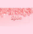 valentines day background with 3d pink hearts vector image vector image