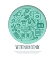 Veterinary pet health care animal medicine icons vector image vector image