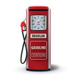 vintage red gasoline pump 3d vector image