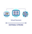 virtual classroom concept icon vector image