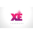 xe x e letter logo with pink purple color and vector image vector image