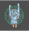 zombie rocker hand halloween vector image vector image
