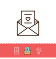 email icon love sms or romantic message icons vector image
