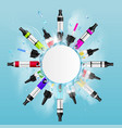 realistic vaping frame background vector image