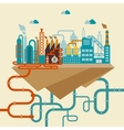 a factory or refinery vector image vector image
