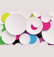 abstract colorful circles composition and minimal vector image
