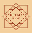 art deco frame vector image vector image