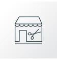 barbershop icon line symbol premium quality vector image vector image