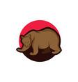 bear logo icon designs vector image vector image