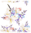 beautiful floral pattern with field flowers vector image vector image