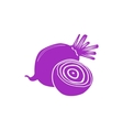 Beet icon simple style vector image vector image