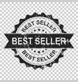 best seller scratch grunge rubber stamp on vector image vector image