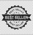 best seller scratch grunge rubber stamp vector image vector image
