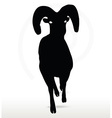 big horn sheep silhouette in running pose vector image vector image
