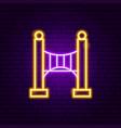 bridge neon sign vector image