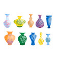 ceramic vases collection elements interior vector image vector image