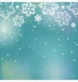 Christmas snowflakes background vector image vector image