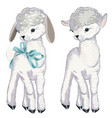 collection lamb for design in watercolor style vector image vector image