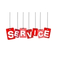 colorful hanging cardboard Tags - service vector image vector image