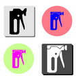 construction stapler flat icon vector image vector image